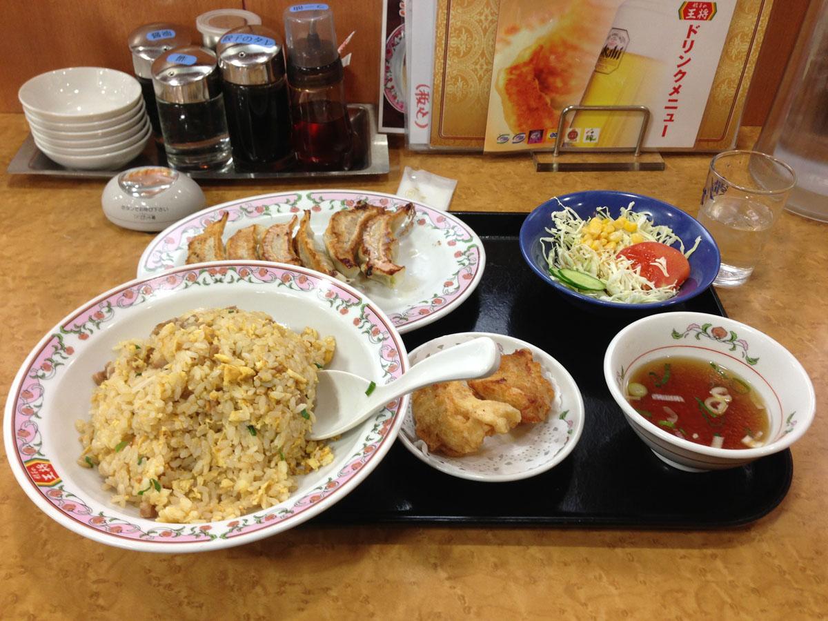 餃子の王将東大成店の焼き飯定食
