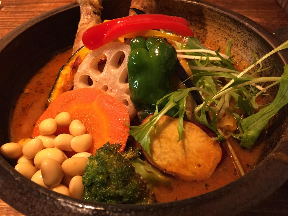 Soup Currry SAMURAI 北19条店のチキンと野菜のスープカレー