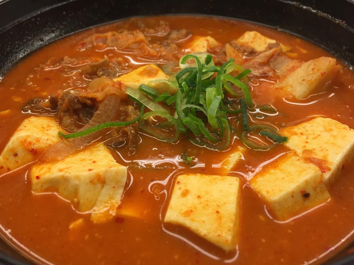 松屋北二十四条店の豆腐キムチチゲ