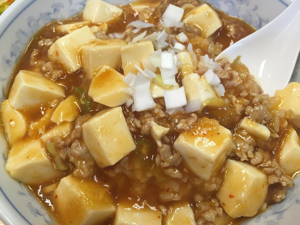ぎょうざの満州川越西口店の麻婆豆腐丼