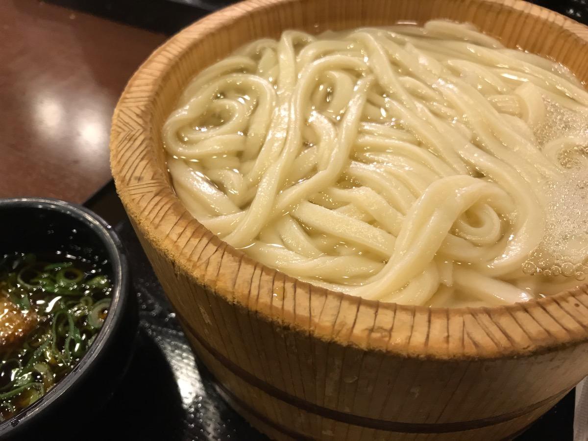 丸亀製麺六本木ティーキューブ店の釜揚げうどん