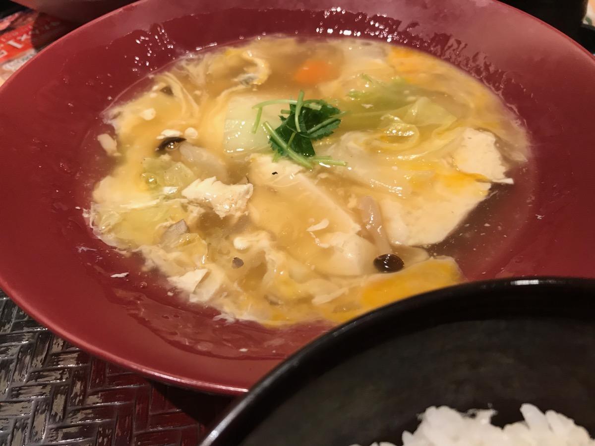 大戸屋ごはん処六本木一丁目店の手造り豆腐と野菜のトロトロ煮定食