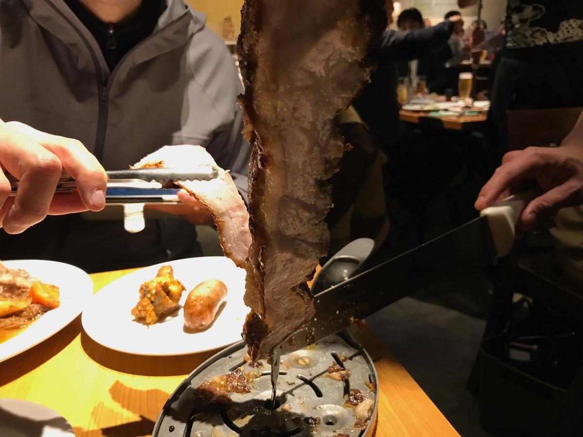 シュハスカリアキボンのシュラスコ(ラム肉)
