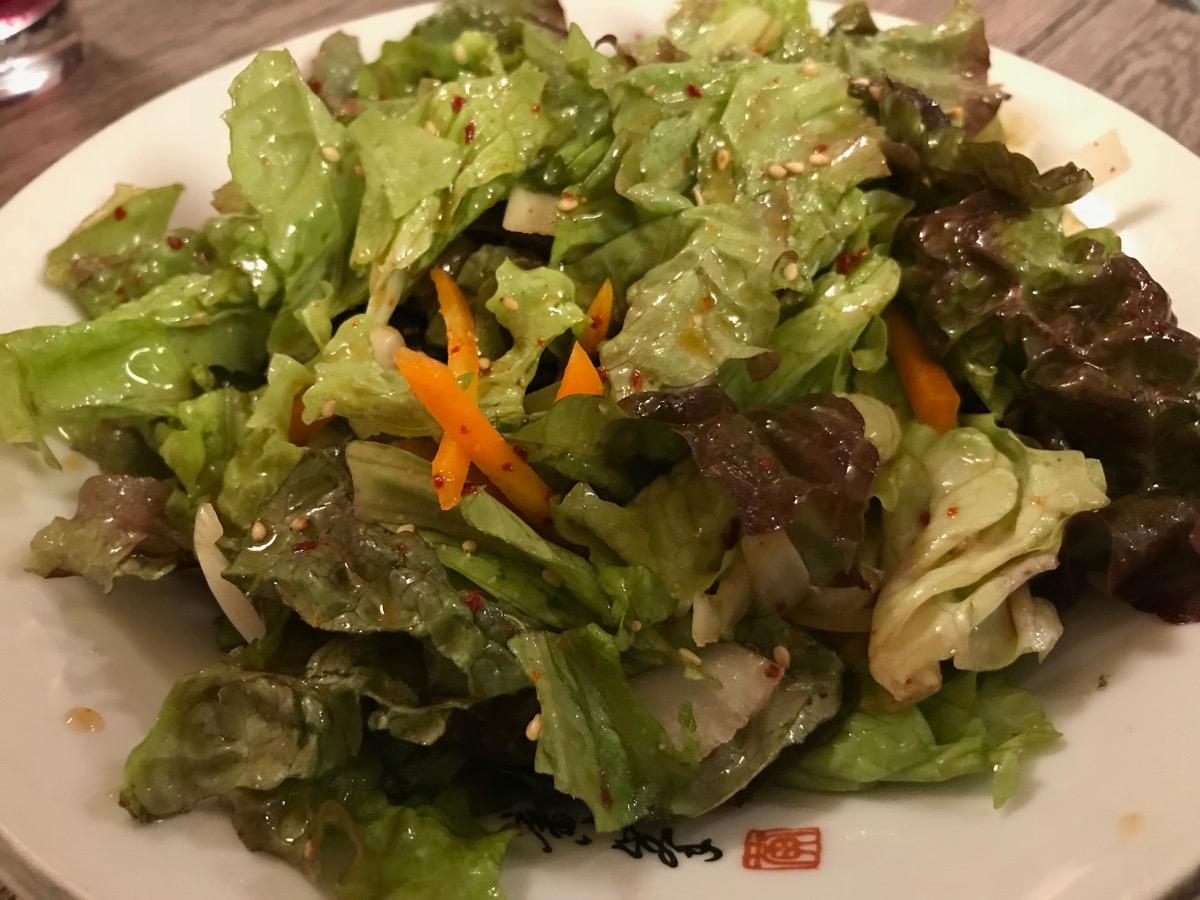 韓国料理サランバンのチョレギサラダ