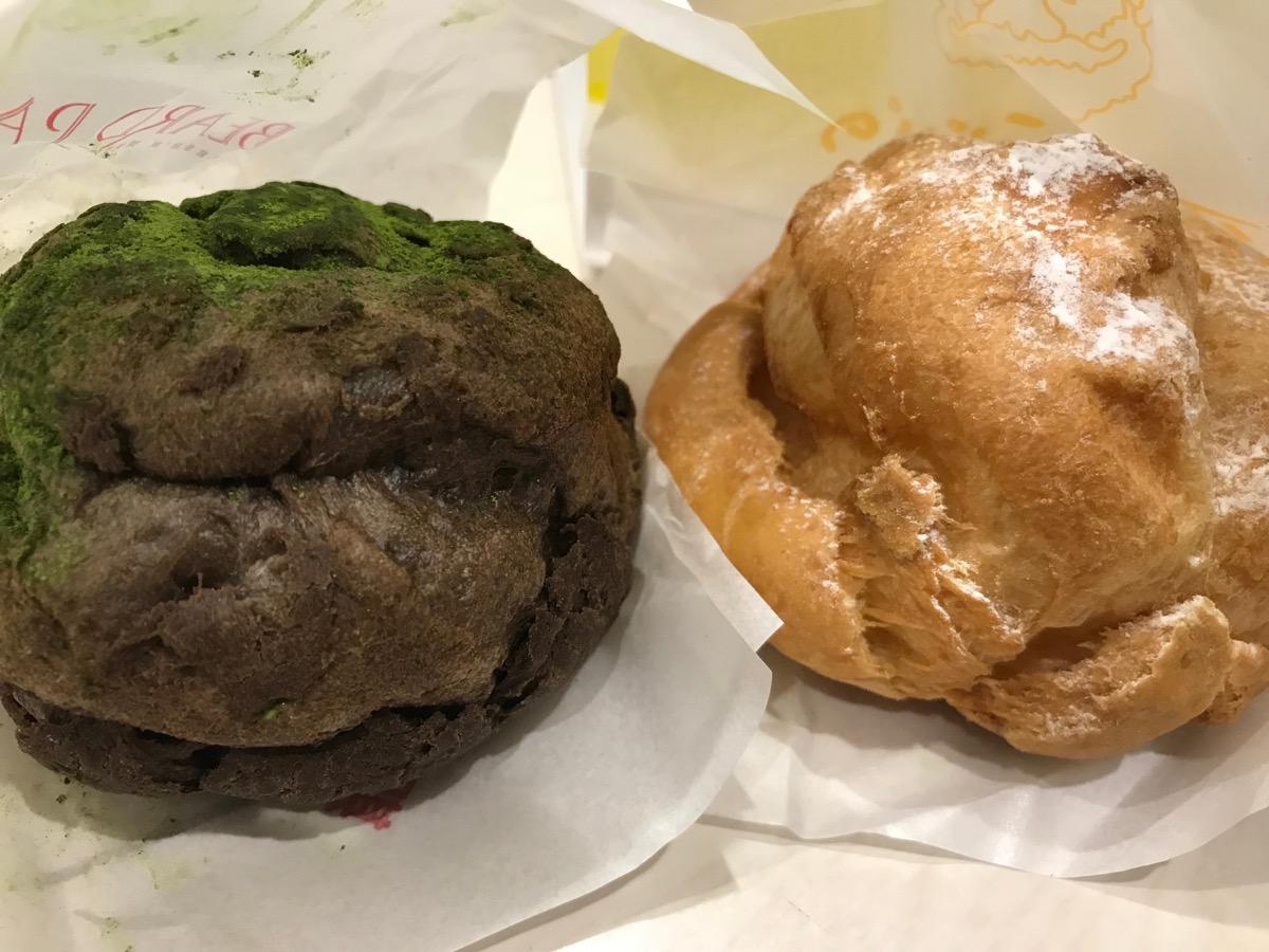 ビアードパパウィング新橋店の濃い抹茶とカスタードクリーム
