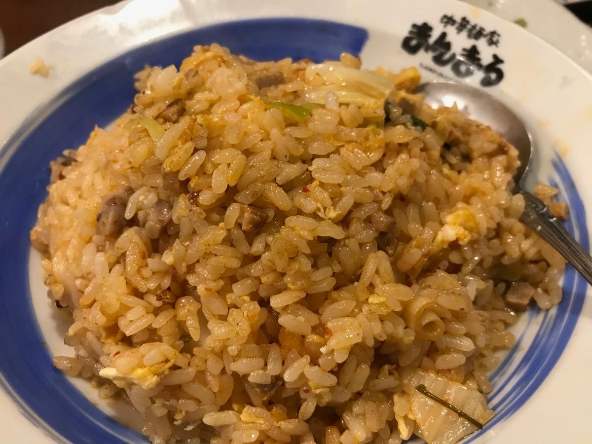 中華麺屋まんまるのキムチ炒飯