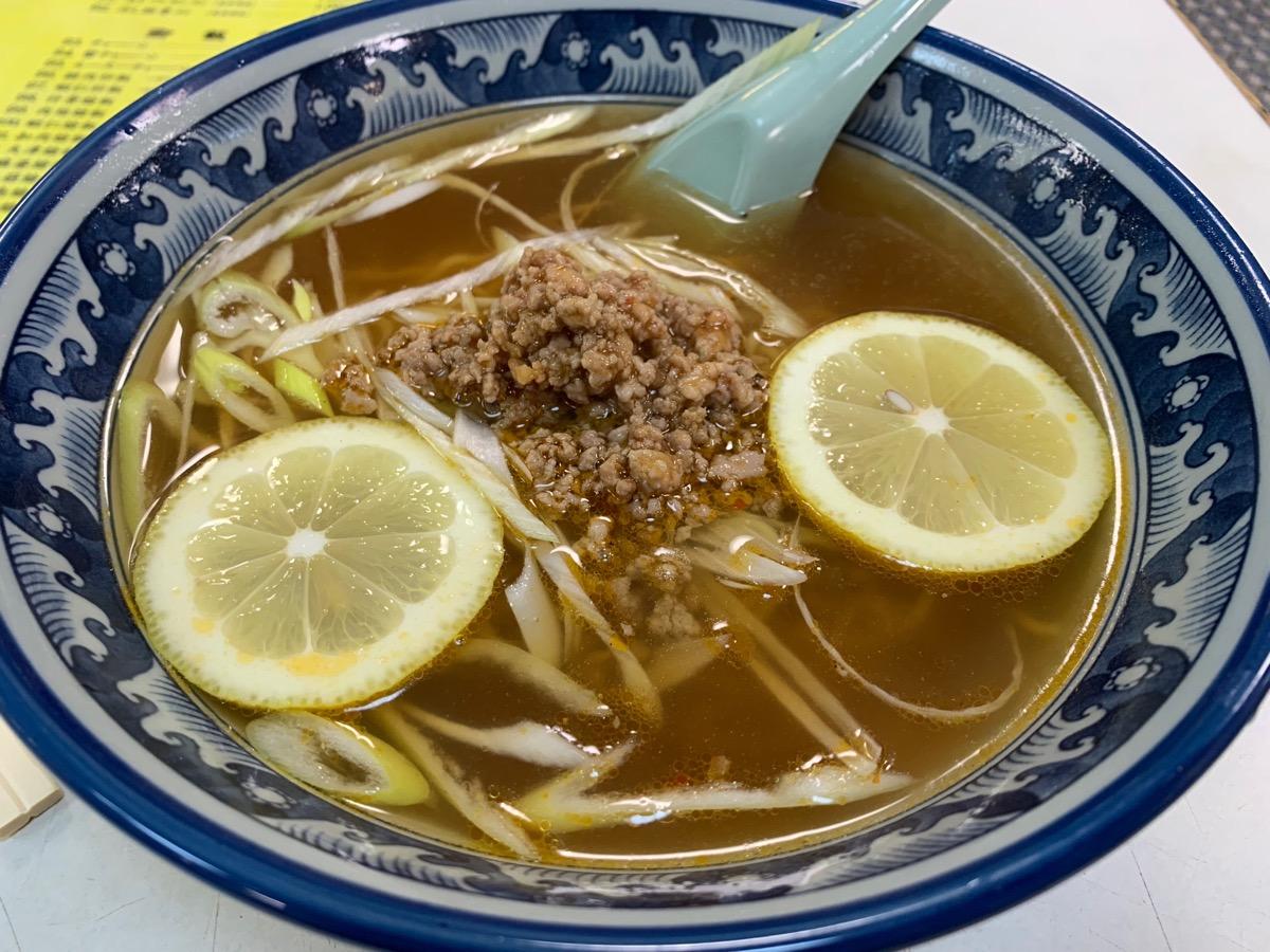 中園亭の檸檬湯麺