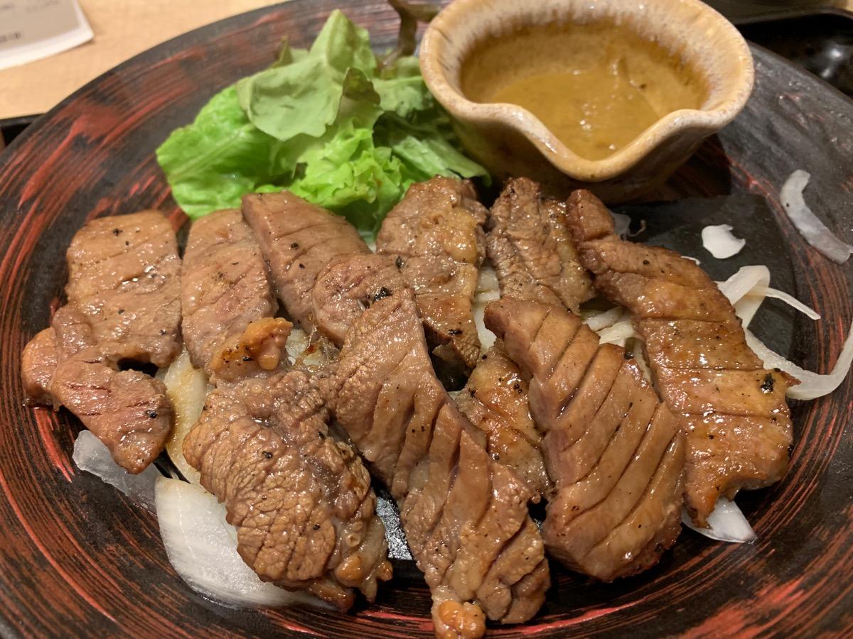 大戸屋ごはん処東京オペラシティ店の牛たんの炭火焼き定食