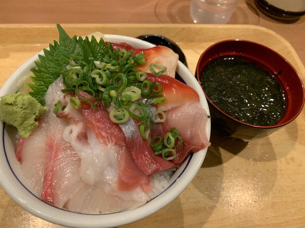 築地食堂源ちゃん東京オペラシティ店の本日の日替わり海鮮丼