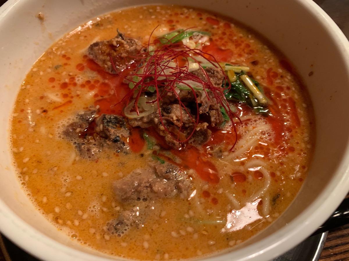 光麺新宿南口店の坦々麺