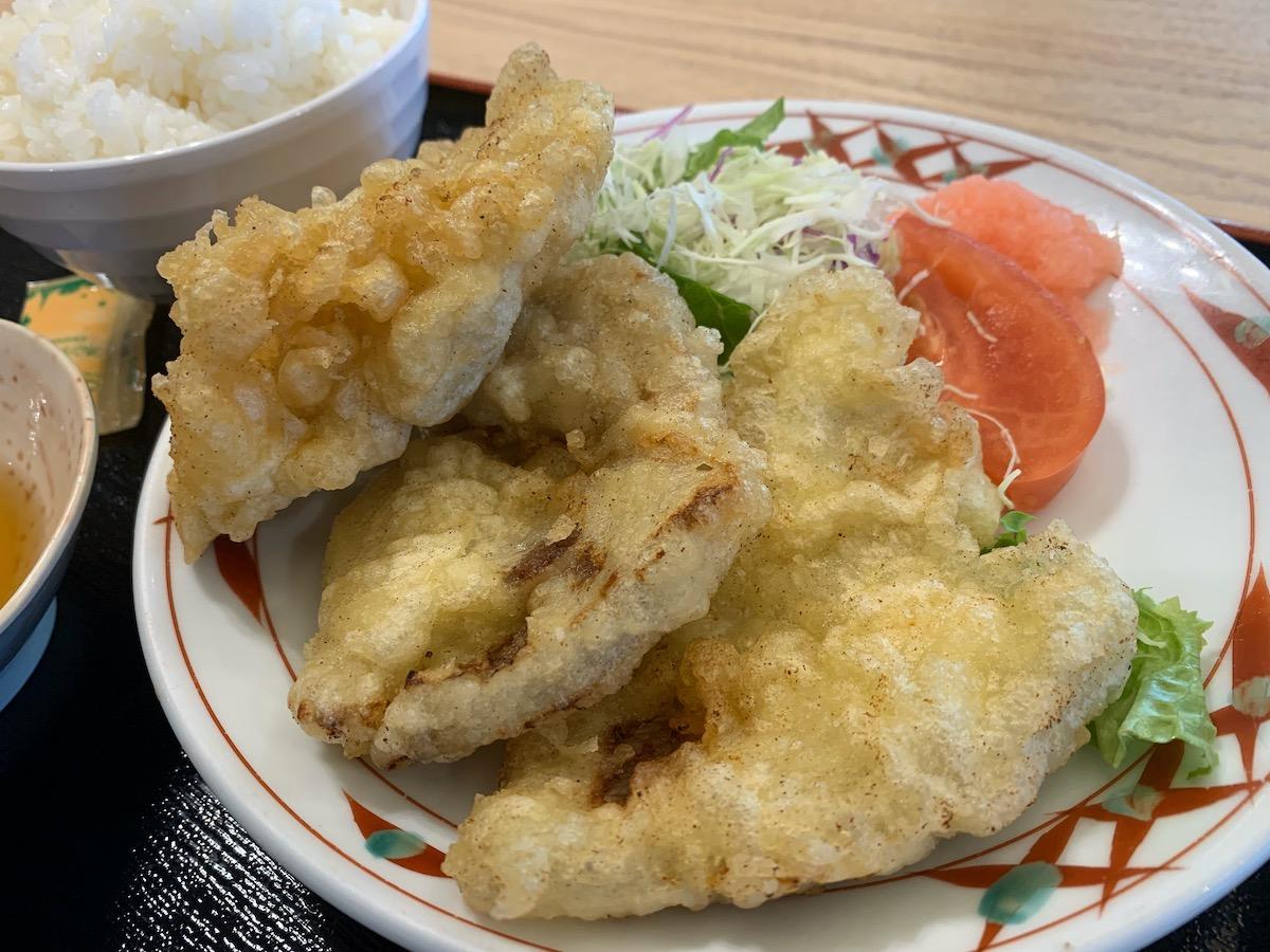 百跳の豚肉の天ぷら
