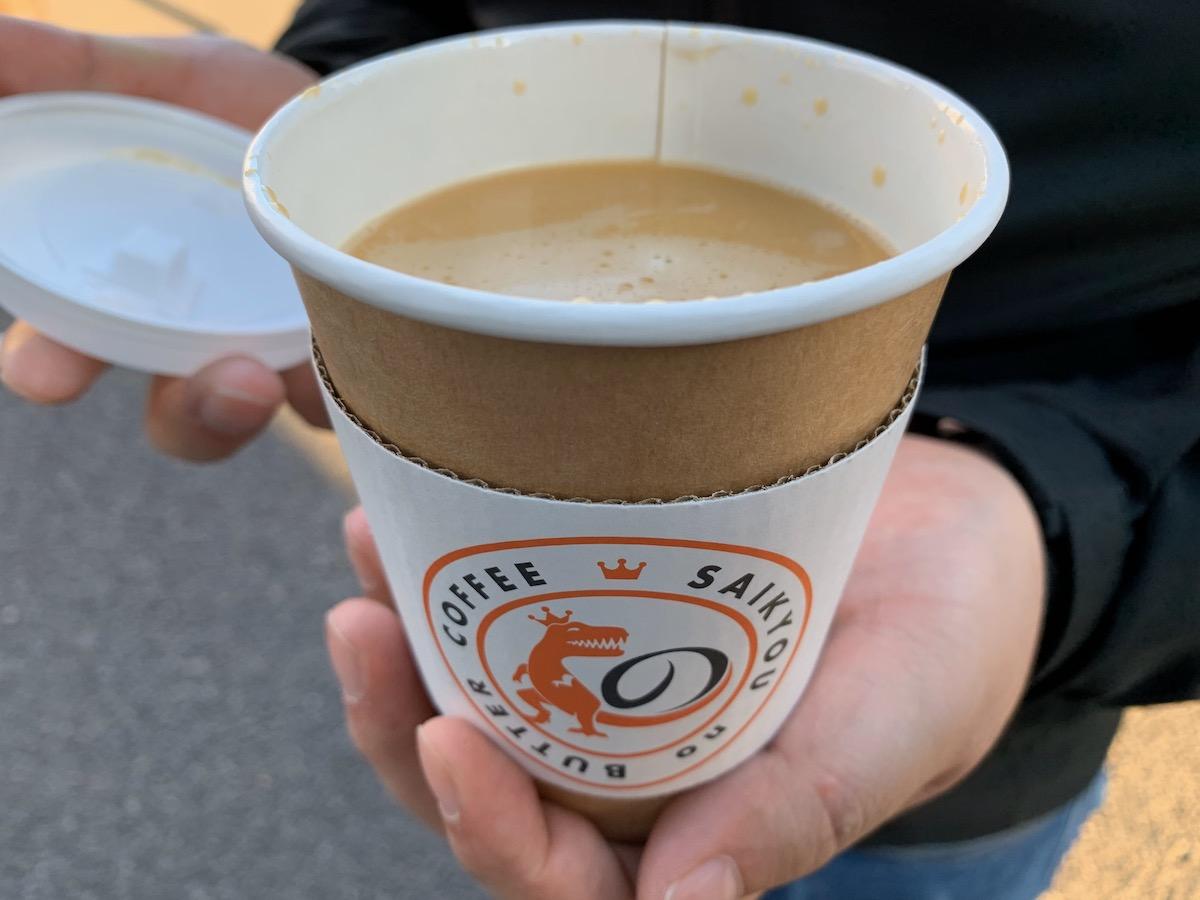 最強のバターコーヒー代々木店の最強のバターコーヒー