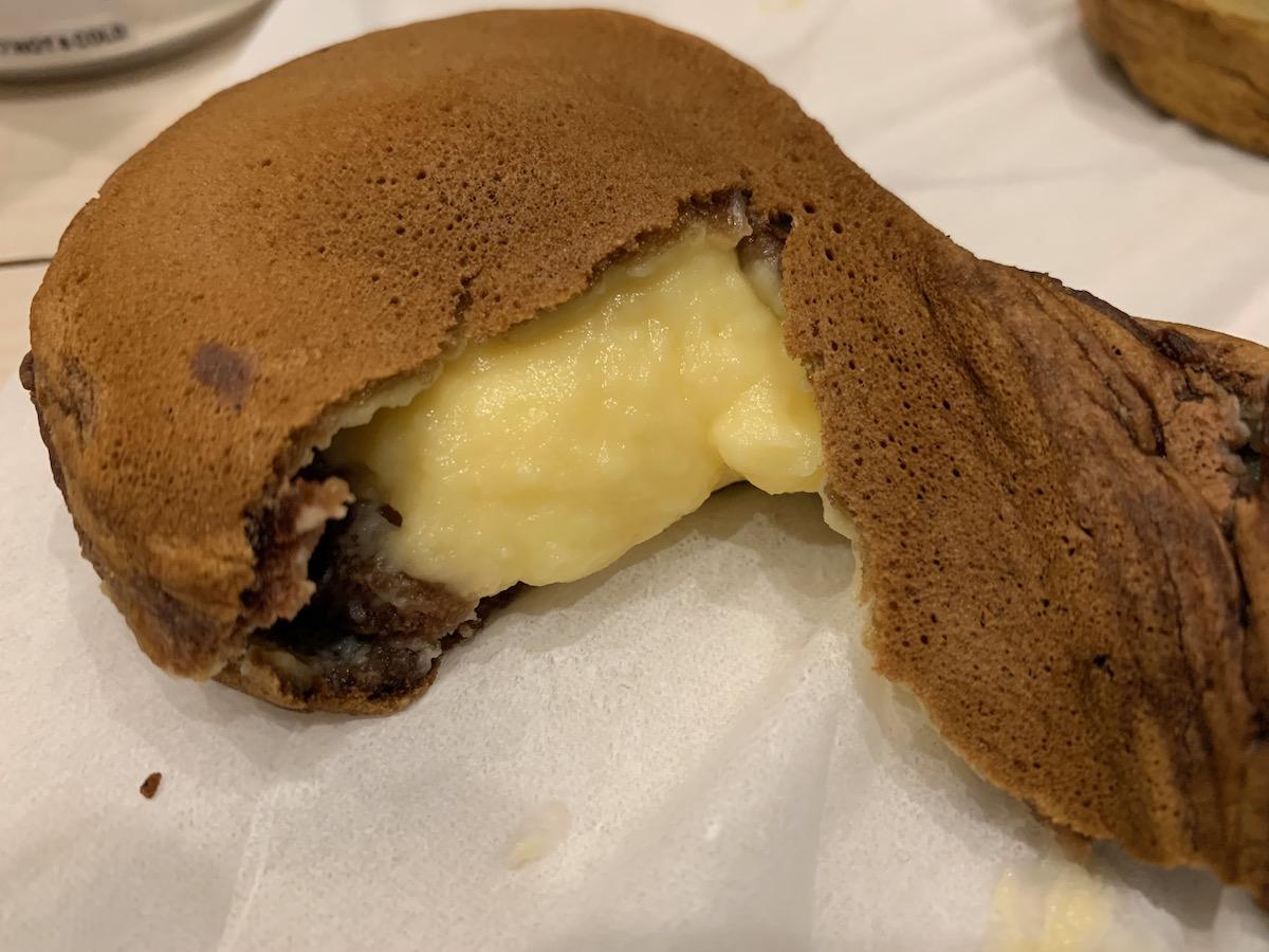 ポッポ四つ木店の薄皮黄金焼(チョコカスタード)