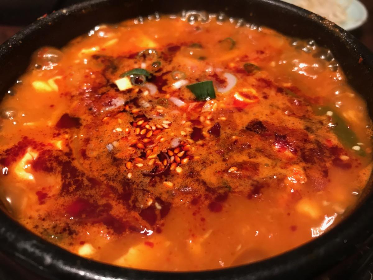 韓国家庭料理チェゴヤ六本木一丁目ティーキューブ店のスンドゥブチゲセット