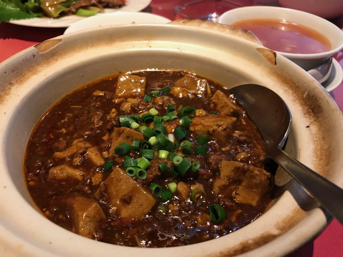 北京料理新北海園の麻婆豆腐