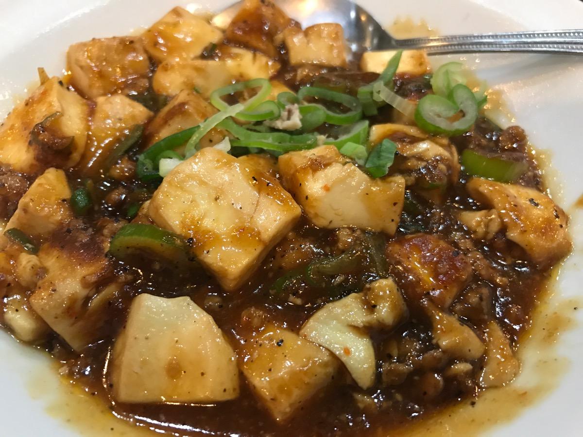 天下一神谷町店の麻婆豆腐