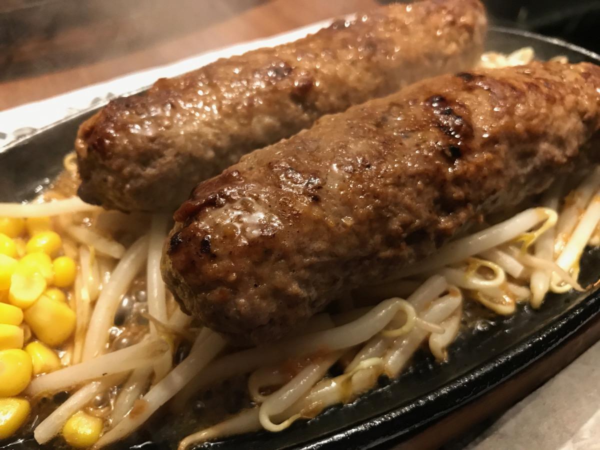グリルハンター新橋店のダブルW手ごねバンバーグステーキ
