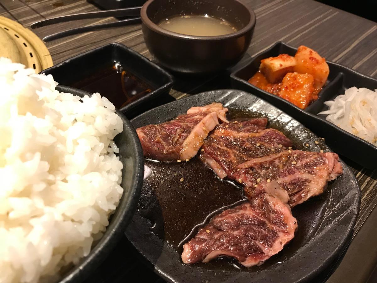 近江牛焼肉永福苑のハラミ定食