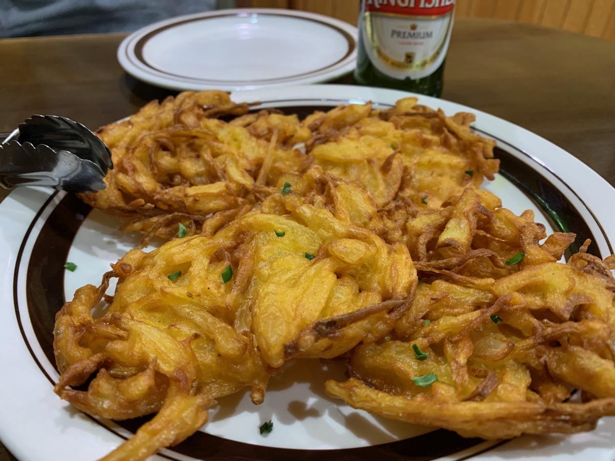 インドレストラン・ガンジーパレスのオニオンパコラ