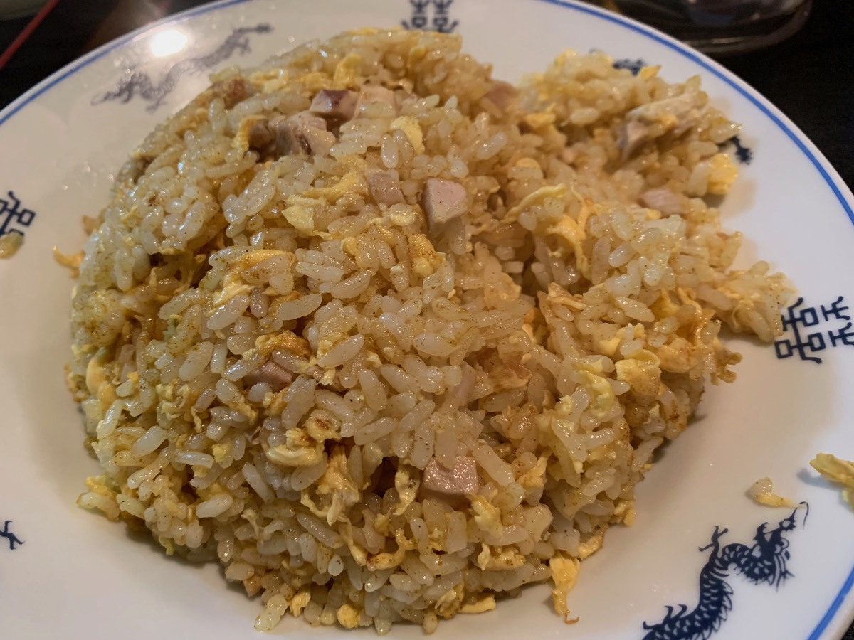 華盛楼の鶏肉カレーチャーハン