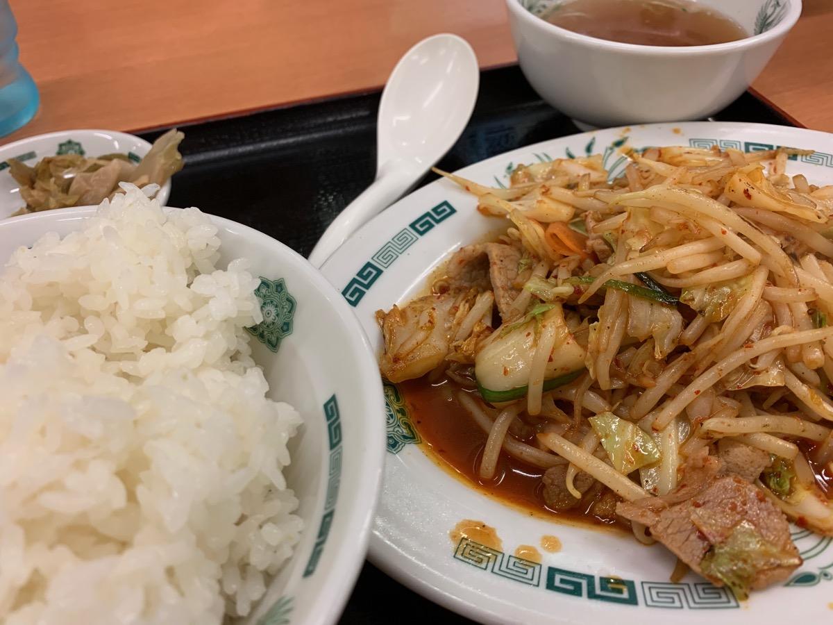 日高屋オペラシティ店のバクダン炒め定食
