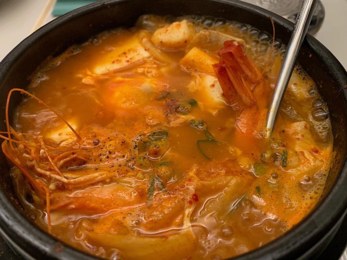 韓国料理甘・唐の海鮮チゲ