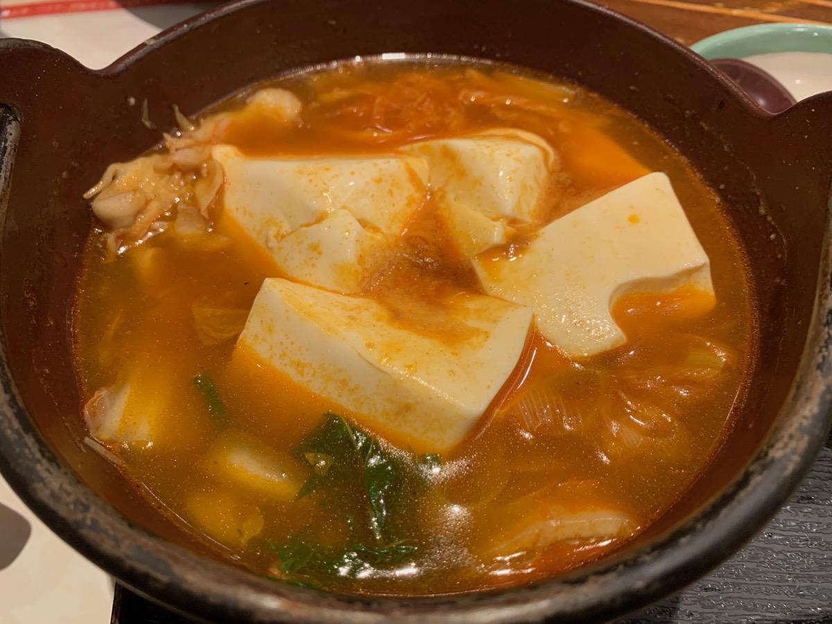 華屋与兵衛四つ木店の辛味豆腐