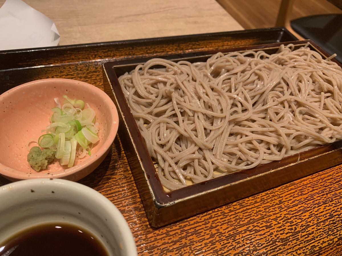 大戸屋ごはん処東京オペラシティ店のせいろ蕎麦
