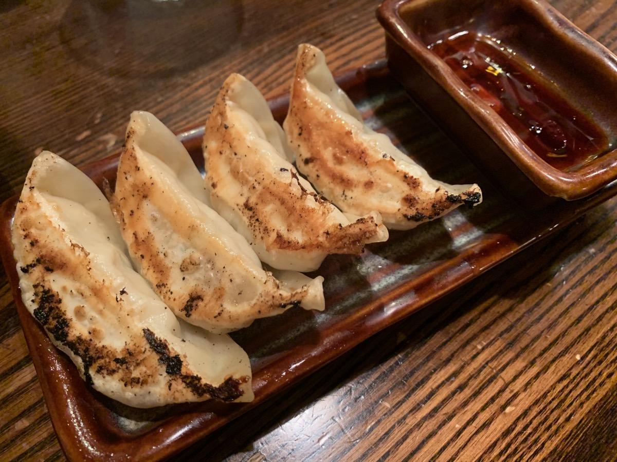 光麺新宿南口店の餃子(4ケ)