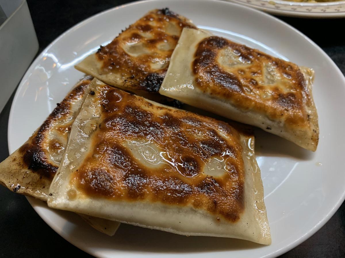 龍高飯店のトマト餃子(特大四個)