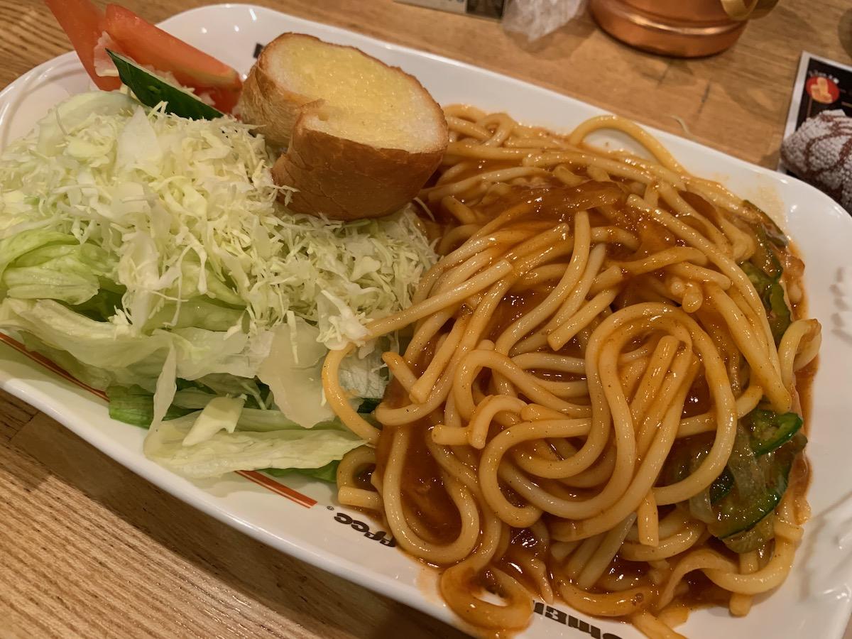 コメダ珈琲店浅草橋駅前店のあんかけスパ