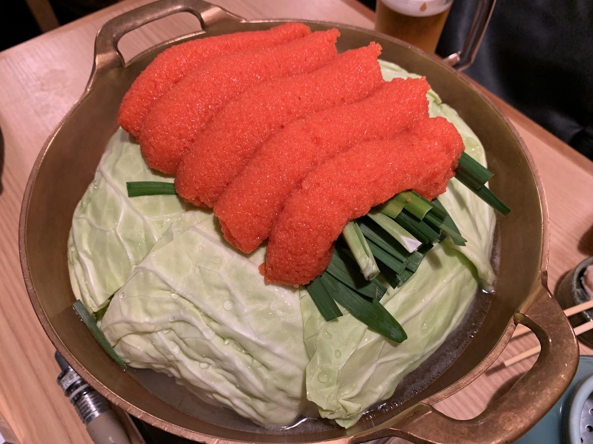 ふく竹本店の明太もつ鍋
