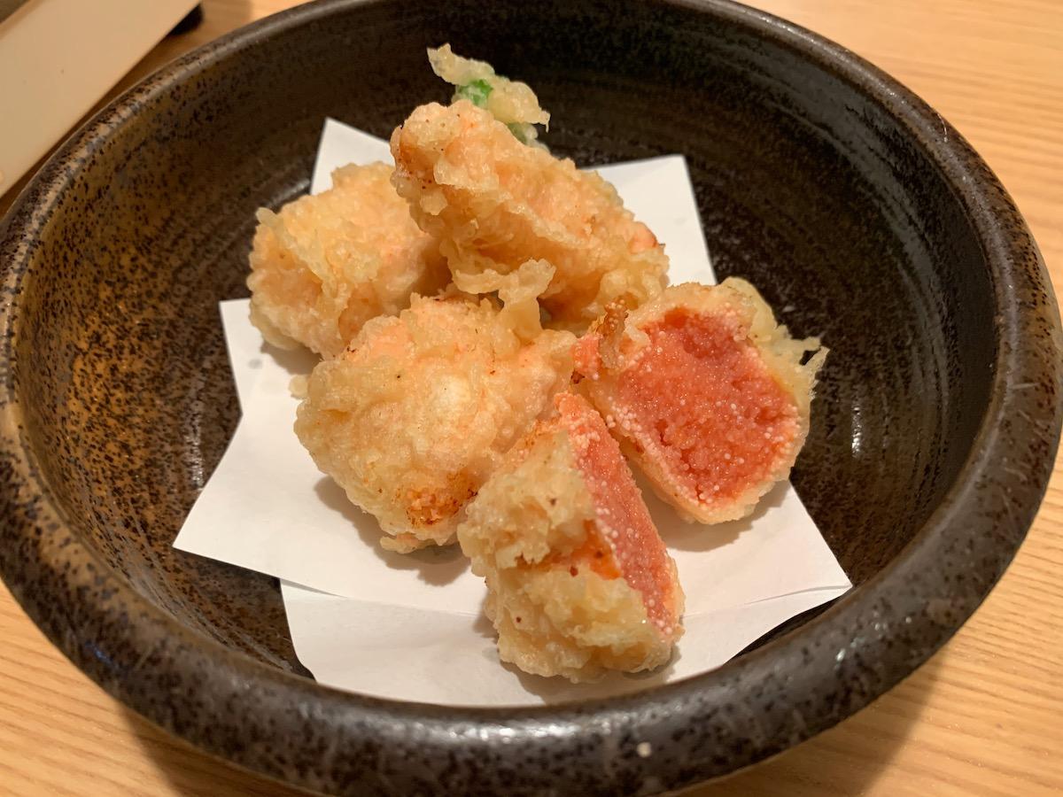 ふく竹本店の明太子の天ぷら