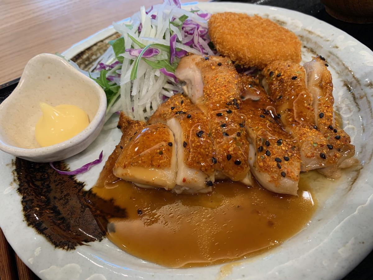 百跳の鶏肉の七味焼き